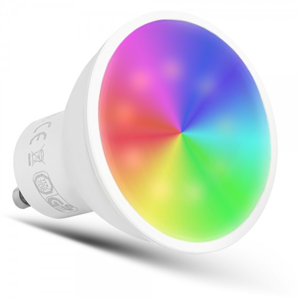 GU10 5Watt LED 3000K-6500K + RGB WIFI SMART DIMMBAR