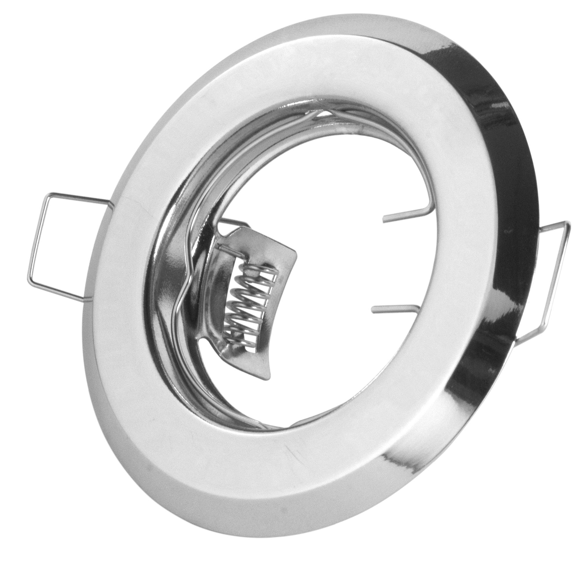 restposten einbaustrahler david f r 50mm leuchtmittel stahl chrom einbaustrahler. Black Bedroom Furniture Sets. Home Design Ideas