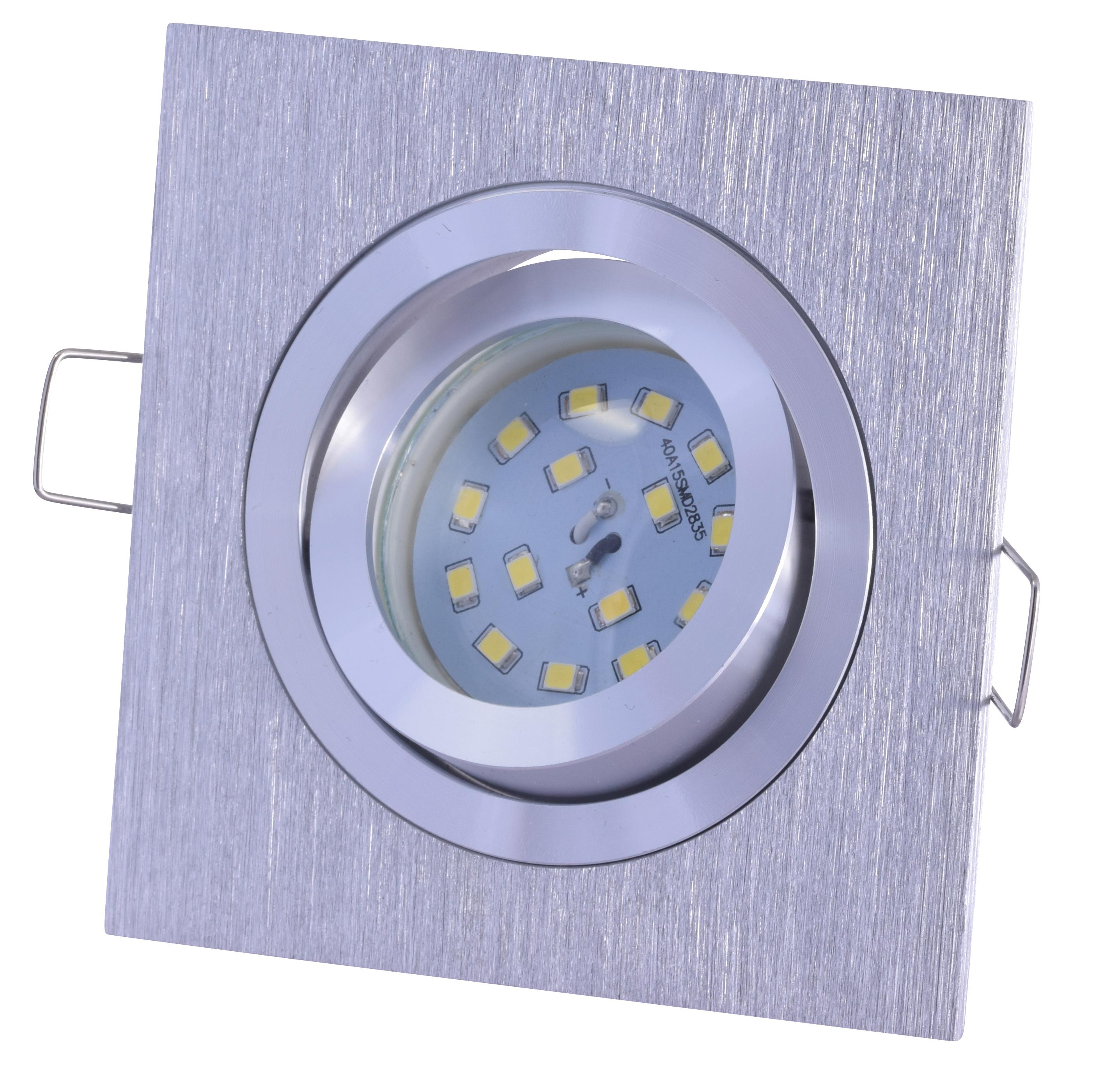 5w einbauleuchte nick ultra flaches led leuchtmittel 230v aluminium geb rstet. Black Bedroom Furniture Sets. Home Design Ideas